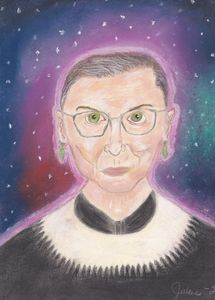 Pastel Painting of Ruth Ginsburg