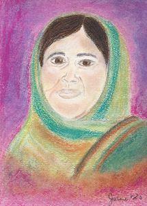 Pastel Painting of Malala Yousafzai