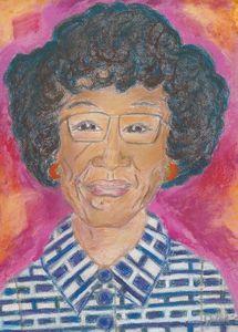 Patel Painting of Shirley Chisholm
