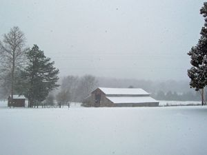Old Barn--Winter Snow