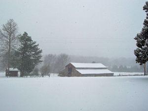 Old Barn--Winter Snow