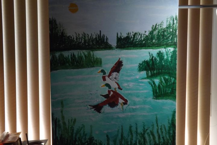 Ducks in water - Derek Edward Moore