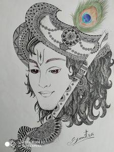Krishna Pen Art