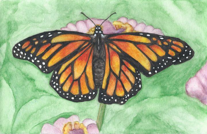 The Beautiful Monarch - Watercolor by Rhonda