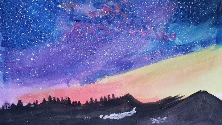 Mountain Sunset - Mizoho Myers