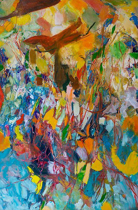 Desert Explosion - Allan Friedlander's  paintings