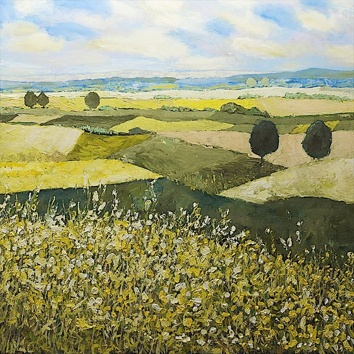 Top of the Hill - Allan Friedlander's  paintings