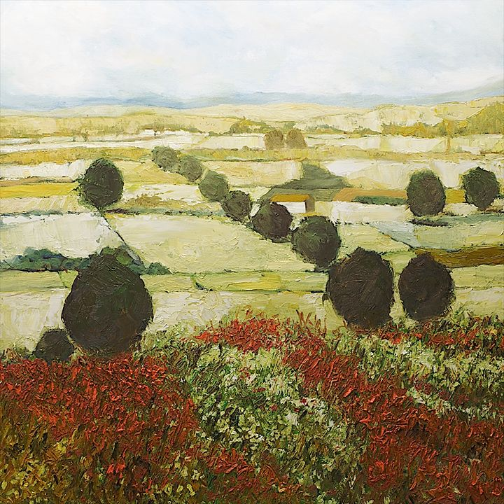 Wildflower Valley - Allan Friedlander's  paintings
