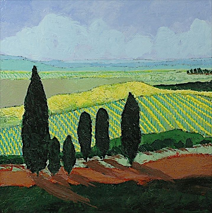 Mustards - Allan Friedlander's  paintings