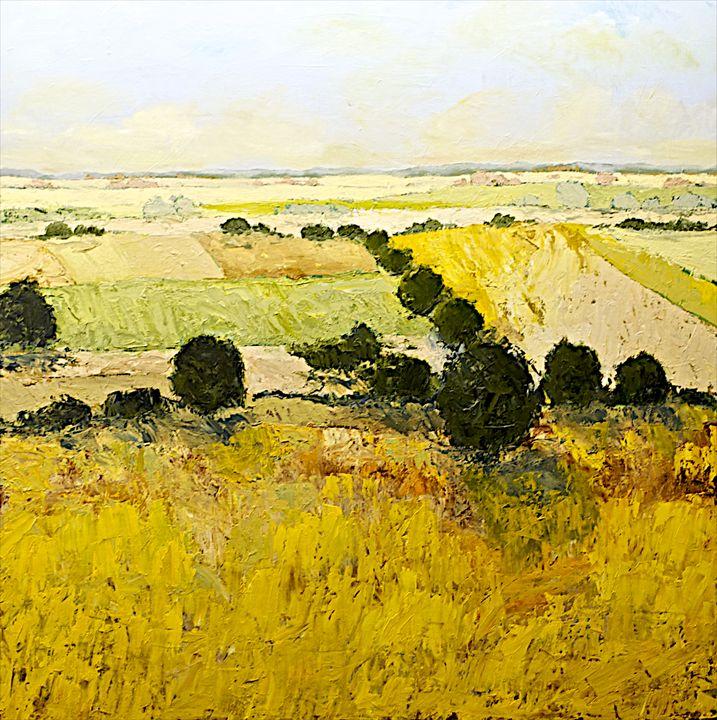 Summer End - Allan Friedlander's  paintings