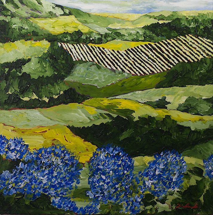 Hydrangea Valley - Allan Friedlander's  paintings