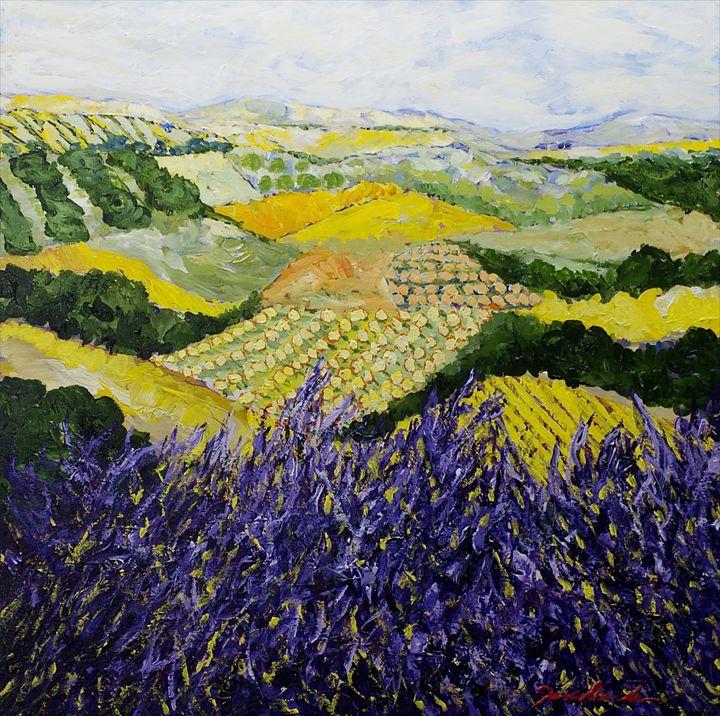 Violet Spring - Allan Friedlander's  paintings