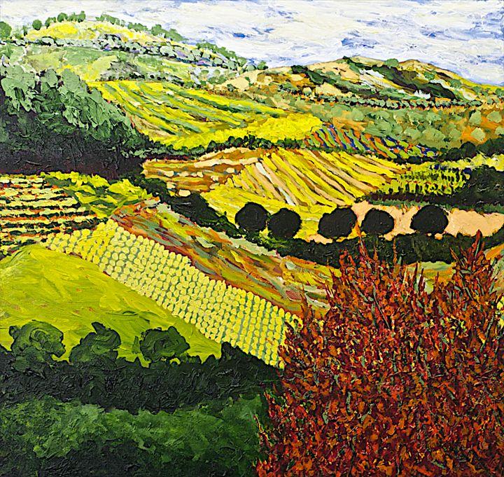 Red Bush - Allan Friedlander's  paintings