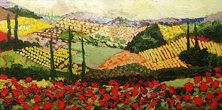Something Red - Allan Friedlander's  paintings
