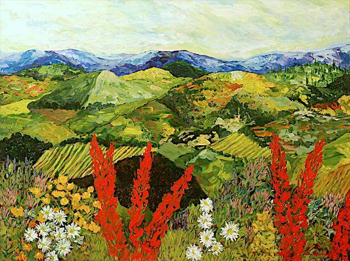 One More Step - Allan Friedlander's  paintings