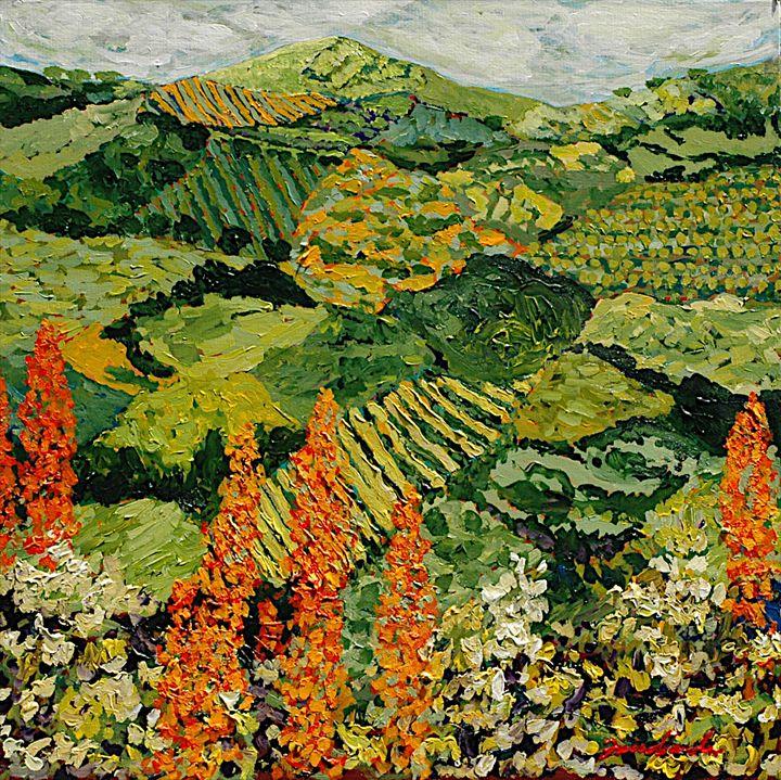Overgrown - Allan Friedlander's  paintings