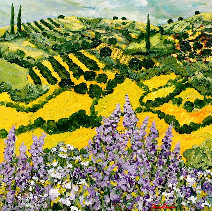 Down the Hill - Allan Friedlander's  paintings