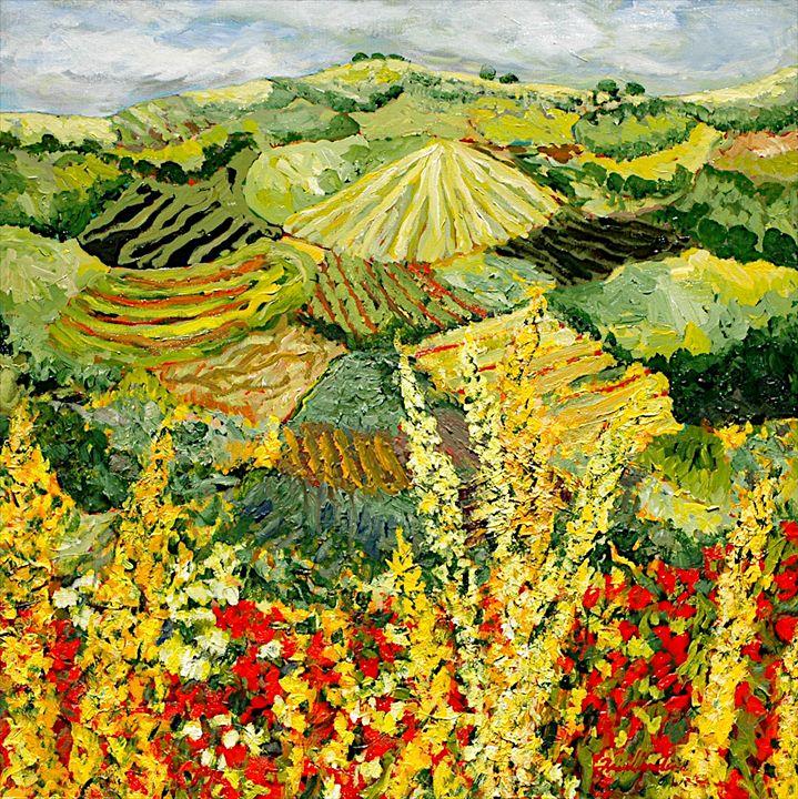 Golden Hedge - Allan Friedlander's  paintings