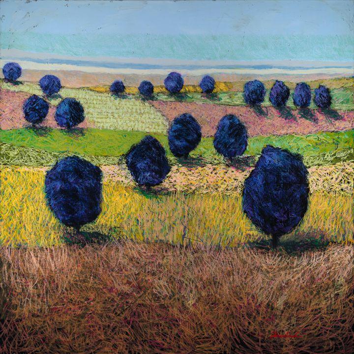 Faraway Field - Allan Friedlander's  paintings