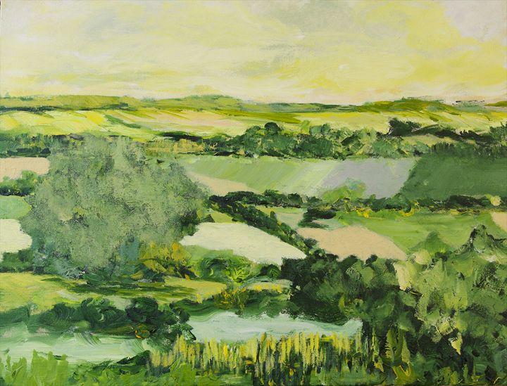 Burton on the Water - Allan Friedlander's  paintings