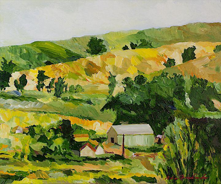 The Farm - Allan Friedlander's  paintings