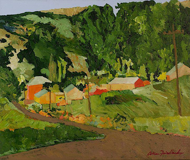 Down the Road - Allan Friedlander's  paintings