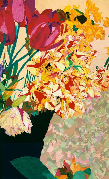 Les Fleurs - Allan Friedlander's  paintings