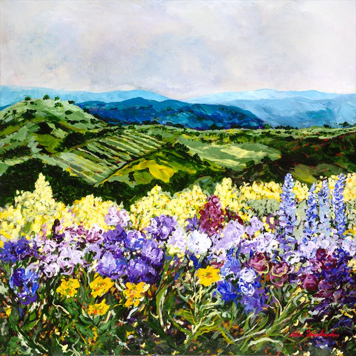 Pollinators Ravine - Allan Friedlander's  paintings