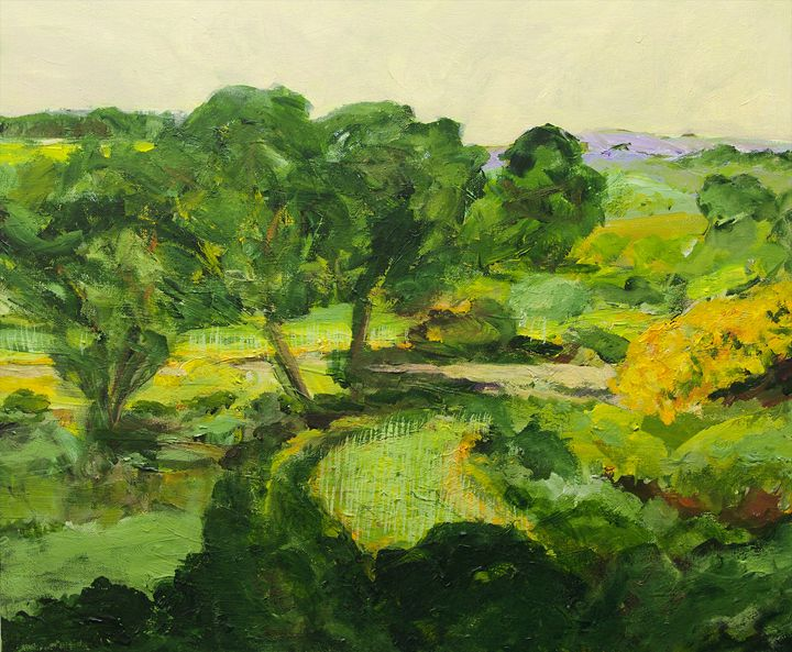Coton in the Elms - Allan Friedlander's  paintings
