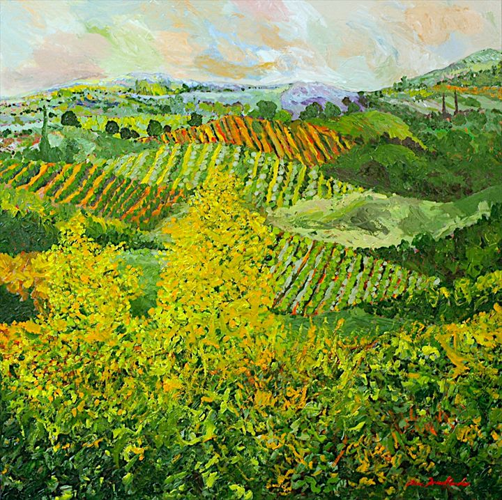Yellow Trees - Allan Friedlander's  paintings