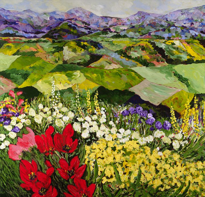 High Mountain Patch - Allan Friedlander's  paintings
