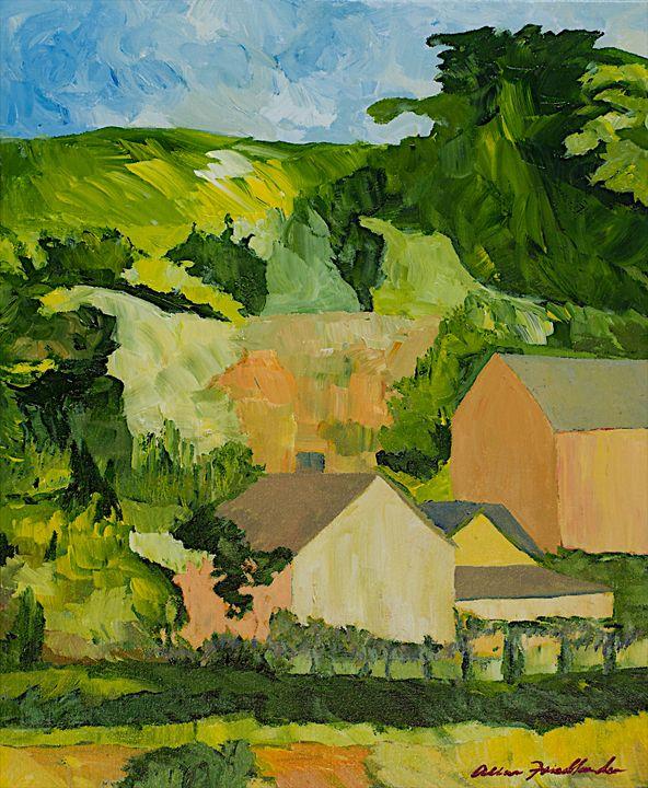Sonoma Home - Allan Friedlander's  paintings