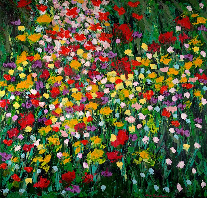 Floral_Eruption - Allan Friedlander's  paintings