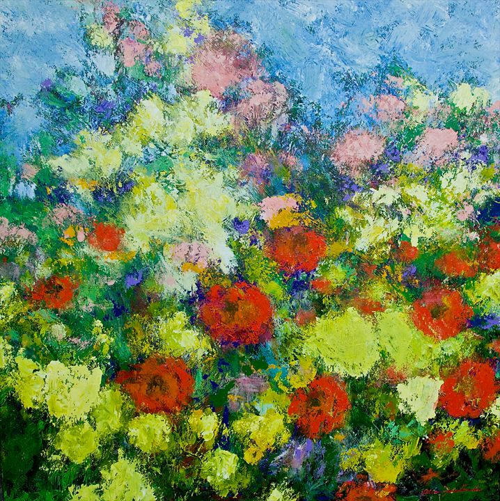 Garden Shower - Allan Friedlander's  paintings