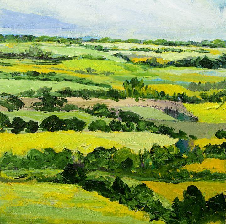Brightwalton Green - Allan Friedlander's  paintings