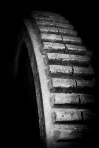 mill wheel in monochrome