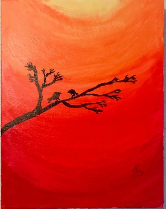 Birds in the sunset - Tegan Ransom