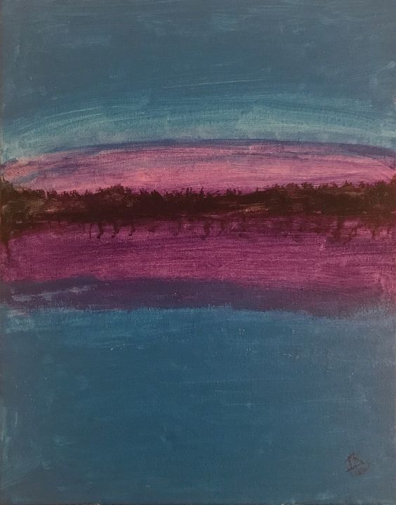 Blue and Purple - Tegan Ransom