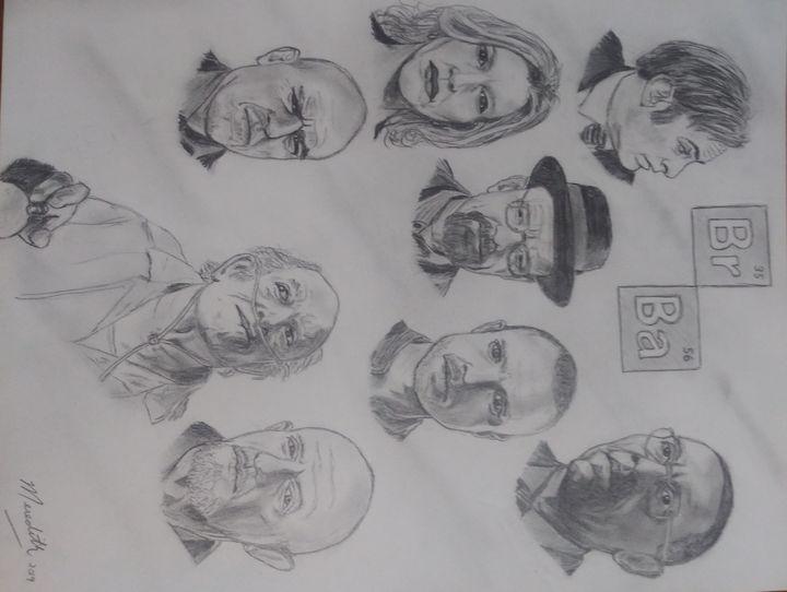 Breaking Bad- main cast - MWM artworks