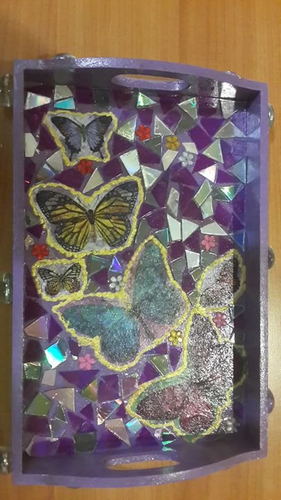 Butterfly Gift Tray - Upcycled Art & Crafts
