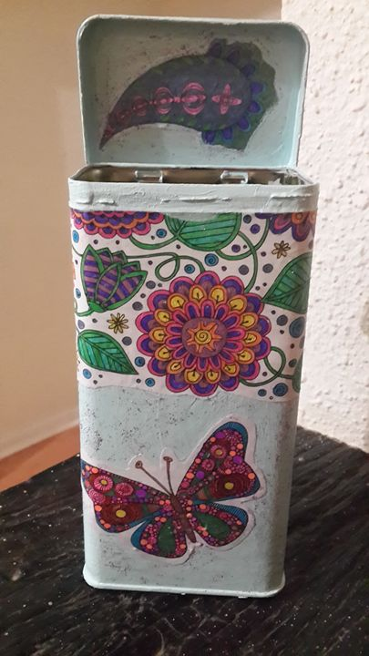 Butterfly Gift Tin - Upcycled Art & Crafts