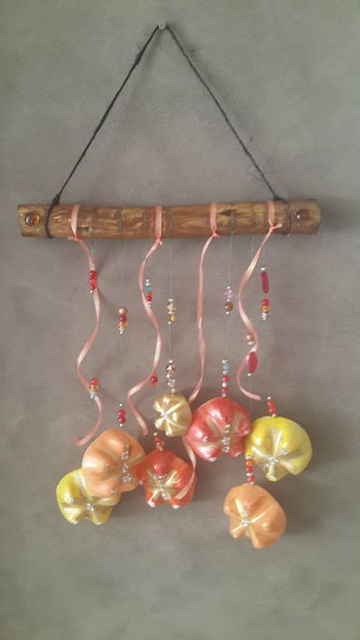 Recycled material Windchime - Upcycled Art & Crafts