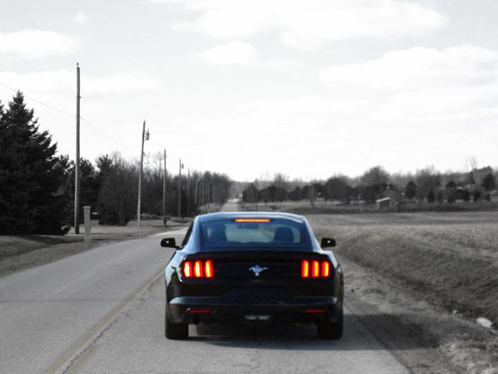 Empty Road Mustang - Boomerob photography