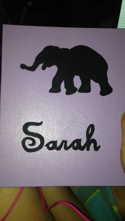 Elephant Painting! - Sarah's Art!