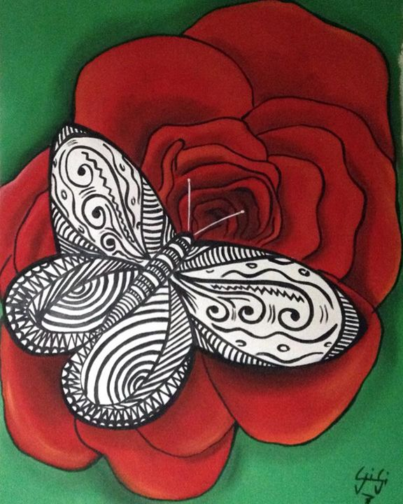 butterfly and rose - Gi_laPorta Artist