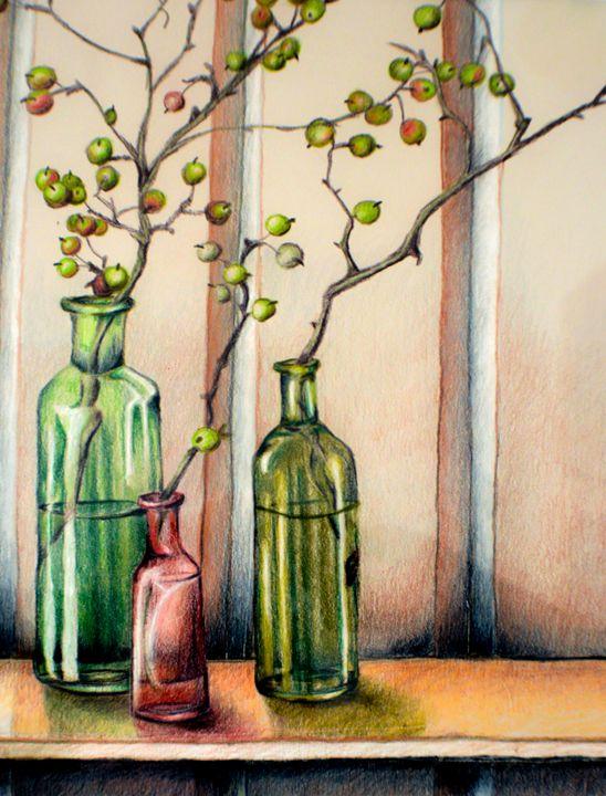 Bottles and Berries - Sandra Hagan