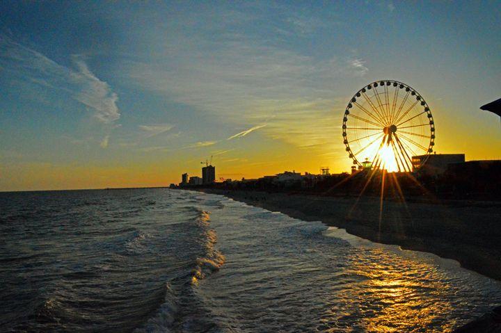 Sunset on Myrtle Beach, SC - Sandra Hagan