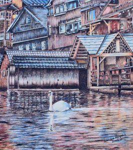 Swan at Halstatt, Austria