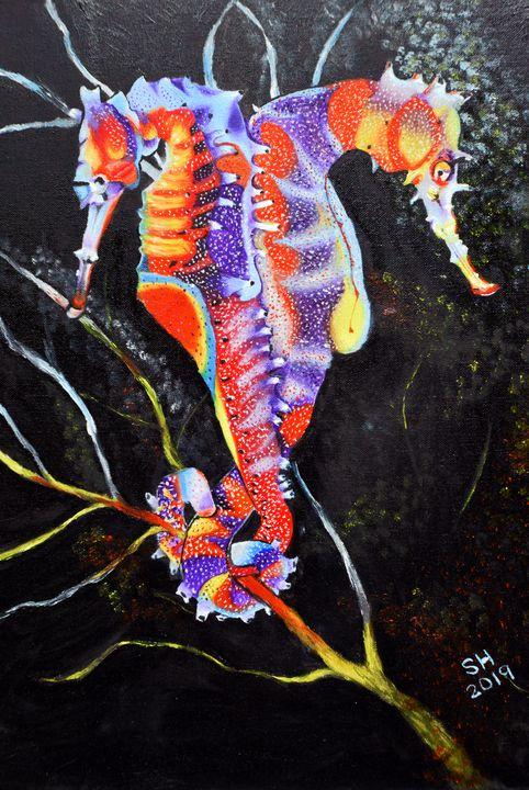 Abstract Seahorses - Sandra Hagan