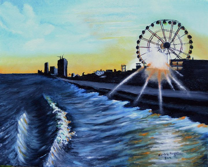 Sunset on Myrtle Beach - Sandra Hagan